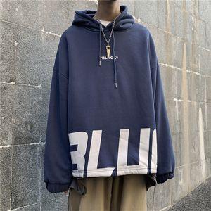 FMZXG ilkbahar ve sonbahar 2020 erkek retro trendi uzun kollu gevşek uydurma hoodie