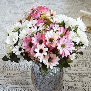 Seta daisy foglia finta foglia di nozze casa vaso partito piante artificiali per decora flower ornamentale flowerpot flowerpot flower1