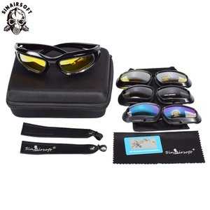 Sinairsoft c5 occhiali polarizzati all'aperto UV400 protezione militare tattico escursionismo campeggio caccia ciclismo occhiali Airsoft margherita