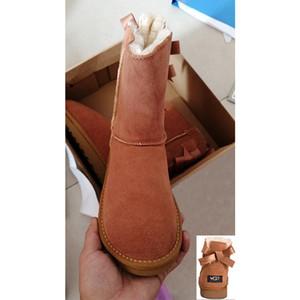 Classic Mini Boot Womens Stivali da neve con boot boot per caviglia ad alto contentino di castello marrone grigio beige rosso nero blu navy scarpe taglia 36-41