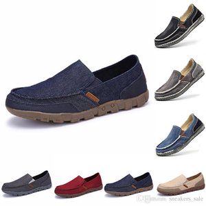 Hot Men 'S Casual Shoes Espadrilles Triple Black White Beige Wine Red Khaki Breathable Outdoor Jogging Walking Shoes Main18 2021