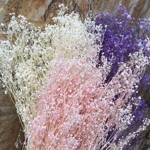 60g Real Natural Fresh Forever Babysbreath Dried Preserved Baby breath Flowers,DIY Dry Gypsophile Flower Bouquet For Home Decor Q1126
