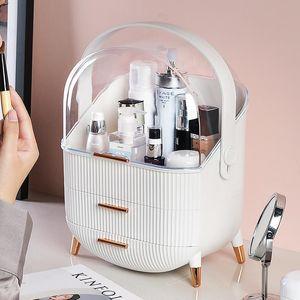 Мода акриловая косметическая коробка женщин путешествия водонепроницаемая красота косметический чехол туалетные комплекты организатор макияж ящик для хранения