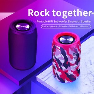 Portable Subwoofer Wireless Bluetooth Speaker Mini Outdoor Speaker With FM Radio Column Support TF Card USB Pen Drive