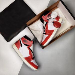 2021 Otantik Kupa Odası X Jumpman 1 Yüksek OG Chicago 1 S Varsity Kırmızı Golf Ayakkabı Tasarımcı Spor Sneakers Erkek Eğitmenler US5.5-11