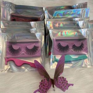 FALSCH 3D Mink Wimpern Wimpern Augen Make-up Handgemachte weiche natürliche dicke falsche Wimpern Wimpern mit Mascara Wand und Tweezer Kostenloser Versand