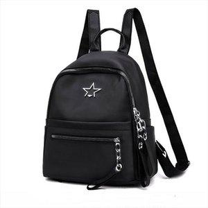 2019 New Style Black Womens Backpack Ladies Nylon Small Fashion Zipper Portable Travel School Backpack