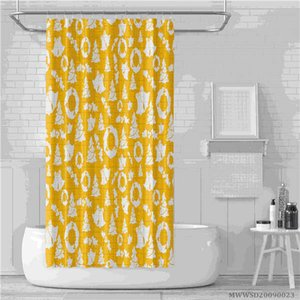 3D Cartoon Christmas Printing Shower Curtain Colorful Balls Happy New Year Decor Bathroom Curtains Waterproof