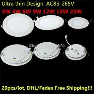 Recessed LED Ceiling Panel Light 25W 15W 12W 9W 6W 4W 3W LED Downlight AC85-265V Warm Natural Cold White Lighting for Home Decor Q1121