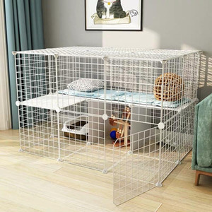 Foldable Pet Playpen Crate Iron Fence Puppy Kennel House Exercise Training Puppy Kitten Space Dog Gate Supplies Small Animals