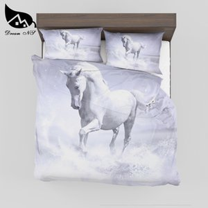 Dream NS Bedding Set professional custom picture High resolution pictures running horse Bedclothes Bed room Home textiles SMY36 Z1126