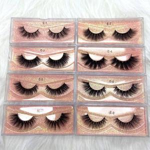 3D Mink Eyelashes Wholesale Natural Thick 100% real mink Eye Lashes Custom Eyelash Packaging Box Vendor