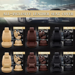 Luxury Car Seat Cushion Pu Leather Seat Cover Five-seater Universal Fully Enclosed Luxury Version With Headrest Backrest1