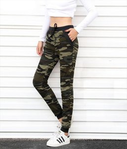 Camouflage Joggers Women Sweatpants Harem Camo Pants Drawstring Pantalones femme Mujer Female High Waist Pocket Tight