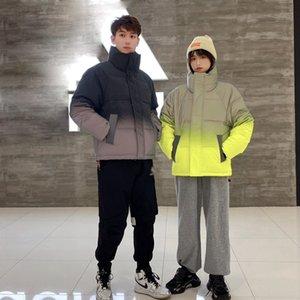 New Gradient Down Jacket Winter Fashion Designers Jacket Unisex Doudoune North Down Jackets Outdoor Windproof High-neck Puffer Windbreaker