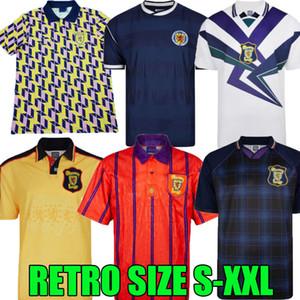 1982 1986 1986 1993 1998 1998 1988 1989 Jersey de football rétro de la Coupe du Monde Ecosse 91 93 95 96 98 Chemise de football de loisirs Vintage classique