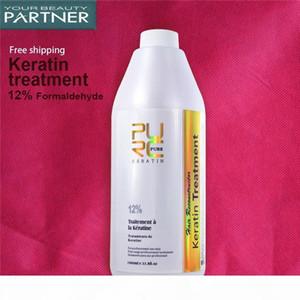 PURC Бразильский кератина волос Лечение 1000ml Формалин 12% Глубокий Ремонт Поврежденные вьющихся волос Выпрямление волос салон
