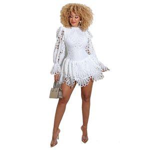 Verbräuchlich kleid Mode feste sexy spitze kurze kleider für frauen 2021 frühling herbst kleid mode fest sexy spitze rüschen