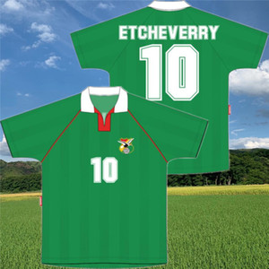 1994 Rétro Bolivie Classic Soccer Jersey Etcheverry Green Home Maillots de pied 94 Chemise de football antique
