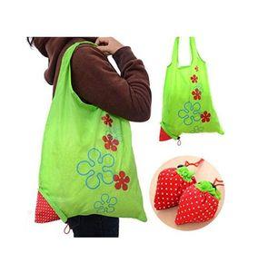 재사용 가능한 식료품 가방 프리미엄 나일론 딸기 쇼핑 토트 백 접이식 쇼핑 접이식 쇼핑 가방 손잡이와 부엌 저장 가방