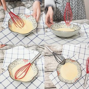 Creative 10 inch food grade silicone egg beater color egg-whisk stainless steel handle hand blender Kitchen tools T9I00844