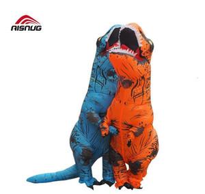 PURIM T REX DINOSAUR Надувной костюм талисман Юрский мир Хэллоуин надувной T REX Costume для взрослых KI JLLHPG INSYARD
