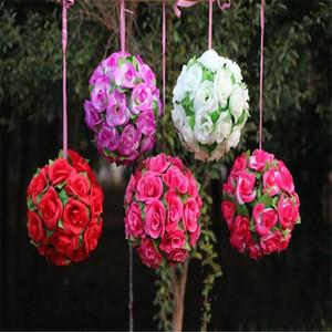 Fleurs en soie balle pomander Embrasser boules 2019 mariage Décorations roses artificielles pour Party Garden Market Décoration