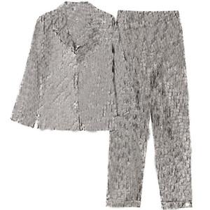 Kış Güz Uzun Kollu Pijama Setleri Vintage Mektup Baskılı Erkek Kadın Pijama Şık Kişilik Charm Unisex Gece Giyim