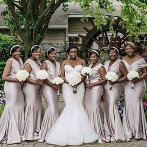 Cheap African Bridesmaid Dresses Mermaid Junior Wedding Party Guest Gowns Maid of Honor Dress Custom Made Off Shouler