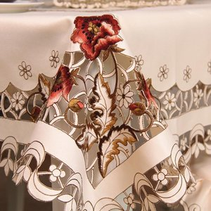 Europe luxury embroidered tablecloth table dining table cover cloth wedding flower chair cover home textile 2291