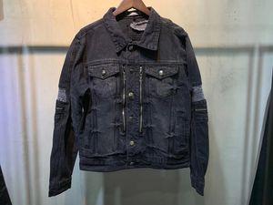 2021 Frühling Neue Mode Herren Designer Loch Dekoration Demin Jacke ~ Chinesische Größe 4XL Jacken ~ Schöne Designer Demin Jacke für Männer