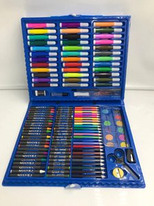 150Pcs Brush Children Pencil Set Art Painting Colored Pen Gift Set Box Kid Student Paintbrush Watercolor Brush Pen Stationery EWF3151
