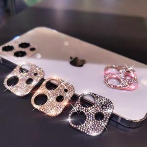 Luxus-Diamant-Kamera-Linse volles Coveraged Screen Protector gehärtetes Glas für iPhone 12 11 Pro max