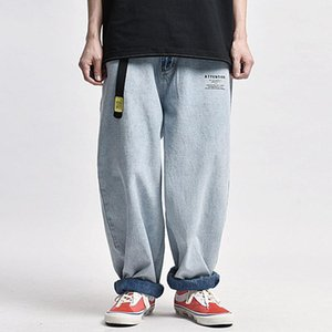 Washed Baggy Jeans Men's Streetwear Lazy Casual Wide-Leg denim Pants Loose Straight Trousers Men old school Dad Jeans