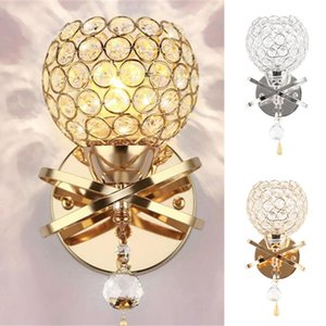 Crystal Wall Lamp Simple and Creative Bedroom Bedside Wall Lamp Home Lighting Living Room Crystal
