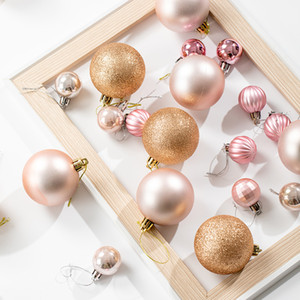 6 8cm Light Gold Champagne Gold Christmas Electroplating Ball Shooting Props Hanging Ball Hotel Window Ceiling Decoration