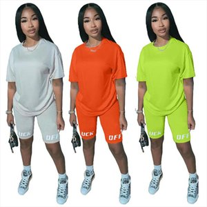 2 Piece Set Women Tracksuit Festival Clothing Neon Crop Top and Biker Shorts Sexy Club Outfits Two Piece Matching Sets
