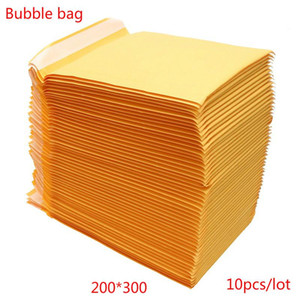 200x300mm 10 20 30 50PCS Lot Kraft Paper Bubble Envelopes Bags Mailers Padded Shipping Envelope With Bubble Mailing Bag DropShip
