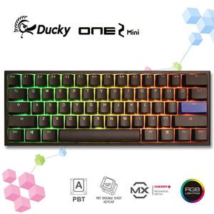 100% originale Ducky One 2 Mini V2 Anno di ratto RGB LED 60% Doppio colpo PBT Keyboard Meccanico Keyboard Cherry MX Switch - Versione 2 LJ200922
