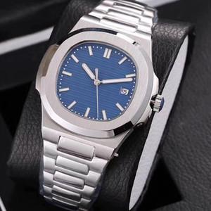 19 colores Mens de reloj Movimiento Glide Sooth Sapphire Glass Mecánico Automático Transparente Transparente PP Silver Wristwatch
