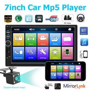 7 Inch 2 Din Bluetooth Car Mp4 Mp5 Car Radio Video Player Mirror Link Steering Wheel Control Rear View Camera Optional car dvr