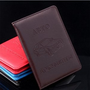 Hot Sale Pu Leather On Cover For Car Driving Documents Card Credit Holder Russian Driver License Bag Purse Wallet Case H jllbBN