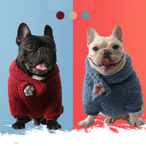 Trendy Brand Winter Dog Clothes Pet Hoodies Plus Velvet Scarf Suit Schnauzer Teddy Pug Dog Small Dog Clothes