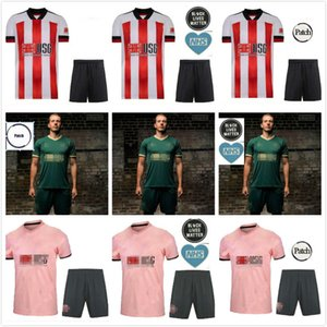 20 21 Sheffield Soccer Jerseys Berge Mousseset United 2020 2021 McBurnie Lundstram Fleck T-shirt Football Norwood Sharp Hommes Kit Kit Enfants Uniformes