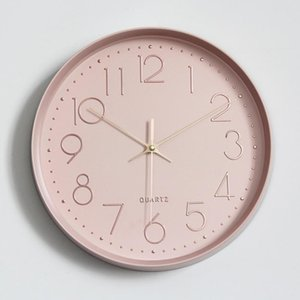 Wall Clock Silent Nordic Style Wall Watch Living Room Home Decoration Fashion Hanging Watches Digital Clock BB50W
