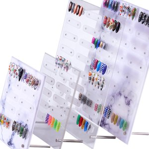 Nail Art Showing Holder Magnetic Marble Nail Art Detachable Color Card Display Board Acrylic False Tip Display Stand Rack