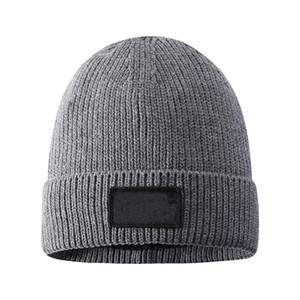 Men Autumn And Winter Knit Hat Woolen Hat Thickened Plus Velvet Warm Beanie Cap Party Hat With Logo Face HH9-3687