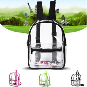 Fashion Women Backpack Transparent Versatile Student Bags High Quality Youth PVC Backpacks Waterproof Travel School Bag