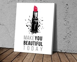 Fashion Wall Art Lipstick Art Poster Nordic Print Canvas Painting Fashion Pictures for Living Room Modern Decoration