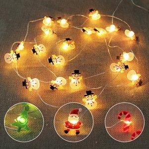 2 M 20LED Noel Baba Kar Tanesi Ağacı LED Işık Dize Noel Dekorasyon Ev için 2020 Noel Süs Noel Hediye Yeni Yıl W-00528